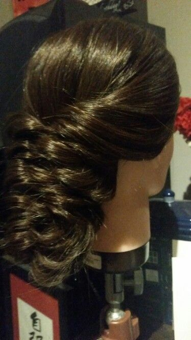 Practicing bridal hairstyles