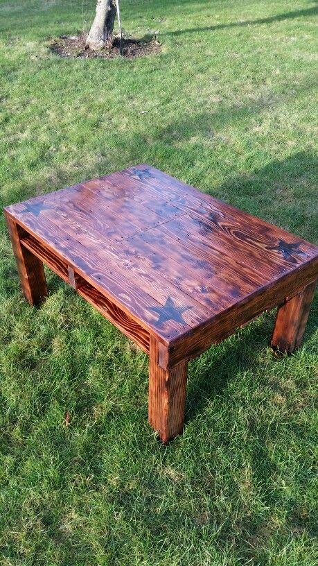 Hard wood pallet table