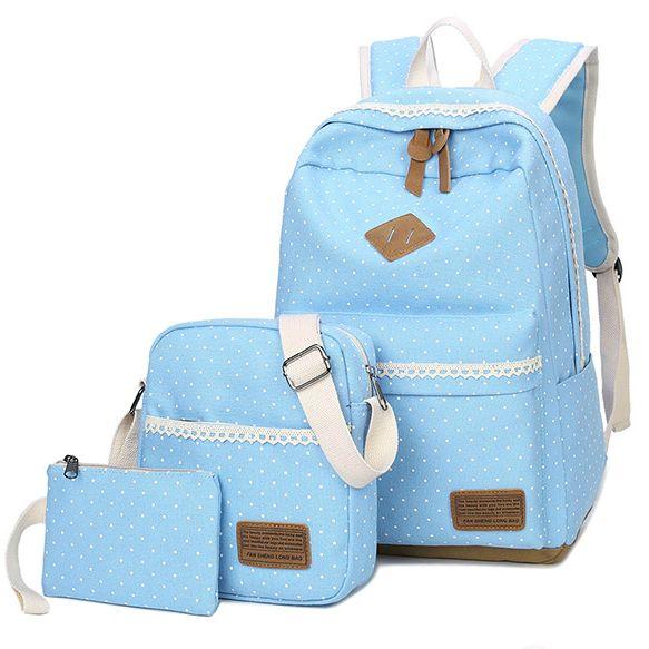 Школьный рюкзак в мелкий горошек 3 в 1, фото 6