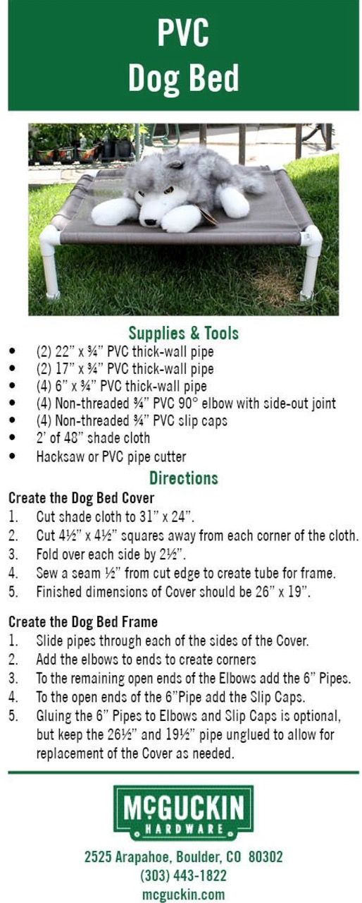 Learn how to make this PVC Dog Frame Raised Bed for your furbaby. It will keep them off the floor and air circulating beneath them. It's also better for older dogs who suffer joint pain or arthritis. This is inexpensive and you can make it in any size at all. Check out all the versions now, the video tutorial too and don't miss the Doggy Trundle Bed either!