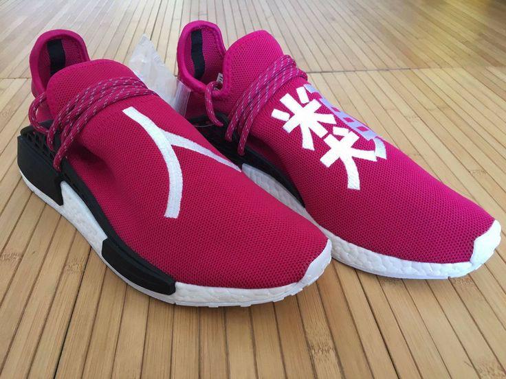 ADIDAS NMD PHARRELL HUMAN RACE SAMPLE BURGUNDY AND PINK PW #adidas  #AthleticSneakers