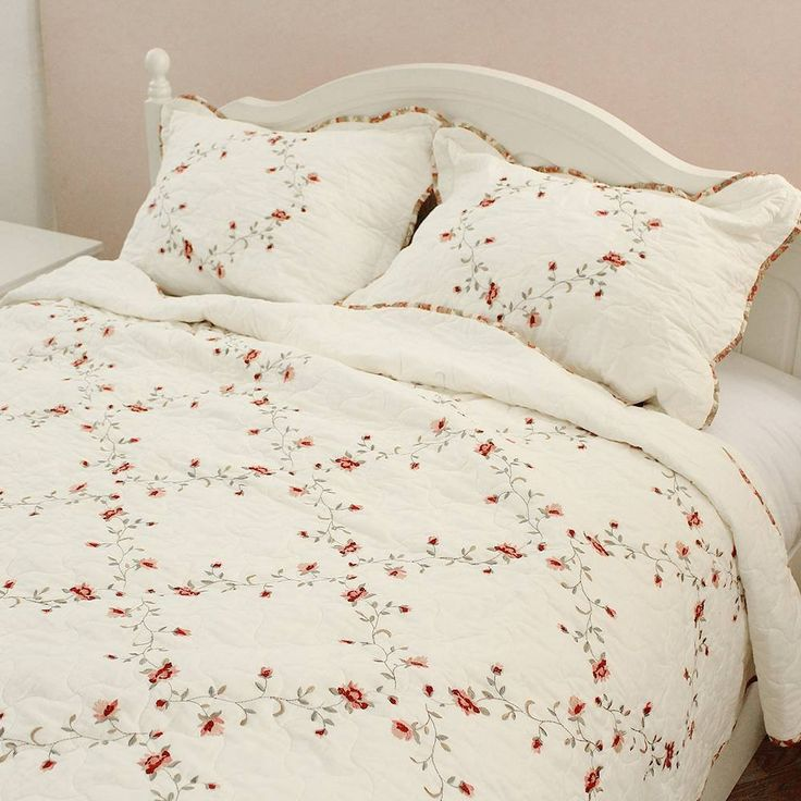 Brandream Romantic Shabby Floral Bedding Set Girls Quilt Set Queen Size //Price: $53.28 & FREE Shipping //     #bedding