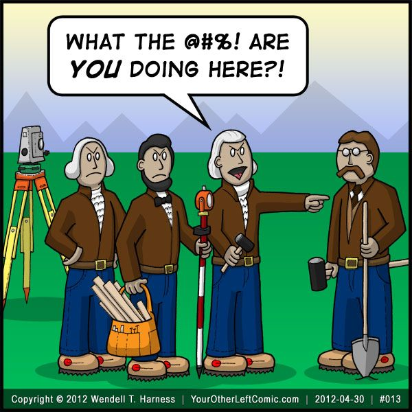 """For those not in """"the know"""" (do you live under a rock?), Mount Rushmore is commonly referred to in the surveying world as """"Three Surveyors and Some Other G"""