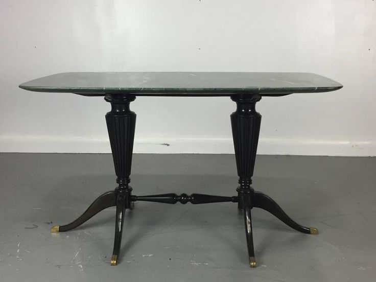 Italian Design Paolo Buffa Low Table with Marble Top for Fratelli Cassina 2