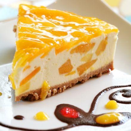 Le cheescake : LA nouvelle star, de l'entrée au dessert. (pêches, framboises, saumon fumé...)