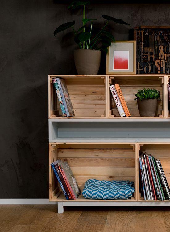 Weinkistenregal ist einfach zu bauen und bietet viel Stauraum für Dekoration, …   – DIY Möbel