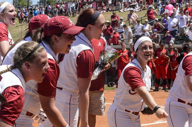 SEC softball tournament field set; Top-seeded Alabama could play Auburn in quarterfinals. If the Tigers take care of business Wednesday against host South Carolina, the two in-state foes will meet in the single-elimination SEC tournament quarterfinals.  Alabama, which clinched its fourth regular season title in the past five years Friday, is the 10-team tournament's No. 1 seed. The Crimson Tide (44-10, 19-5 SEC) is just one win away from matching its total from last season.