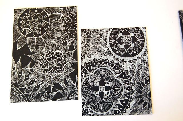 heArt Makes: Mandalas a preto e branco    *   Mandalas black an...