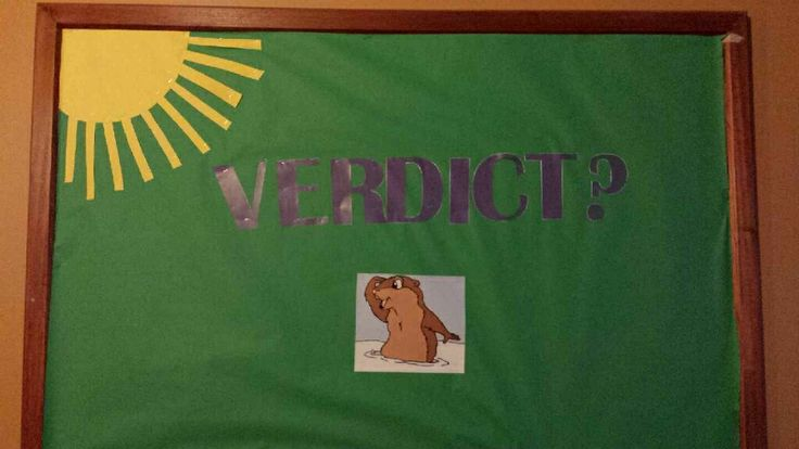 Resident Assistant bulletin board on the surprise of Ground Hog Day. Bethany College, West Virginia via KC Lindley Senior RA 2014.