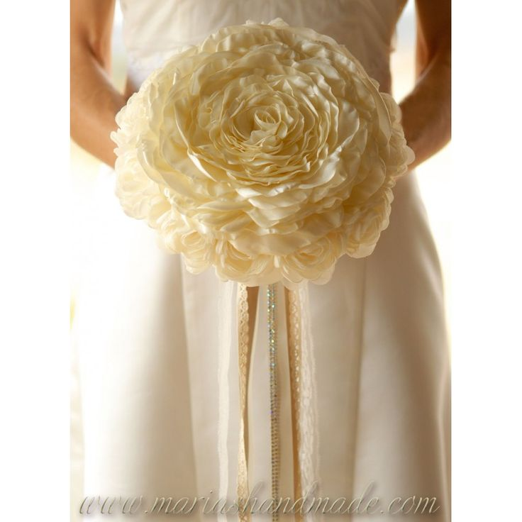 Bridal bouquet fabric by M.aria's handmade fabric bridal bouquets