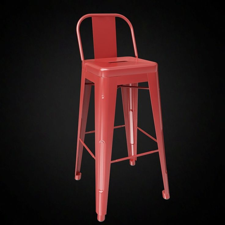 tolix wide back bar stool 3d model 3d furniture model use promo code - Metal Bar Stools With Backs