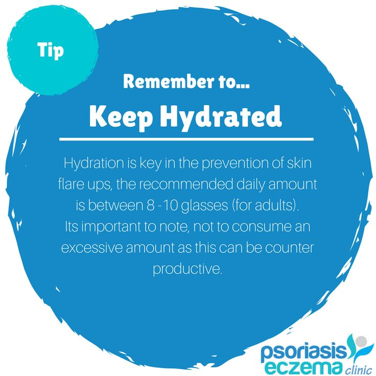 TIP Remember to keep hydrated!  Hydration is key in the prevention of #flareups #skinconditions #psoriasis #eczema #dermatitis #acne #clearskin