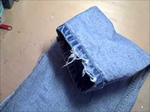 denim DIY door draft guard with insulation - fits on each side of the door - also provides slamming protection