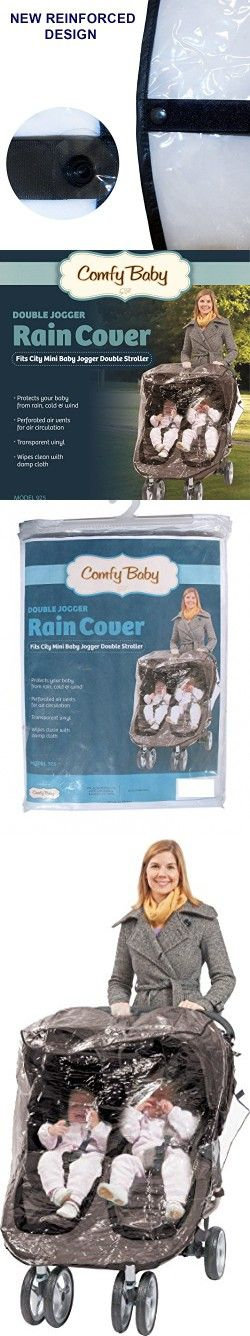 Comfy Baby Rain Cover Custom Designed to Fit the City Mini Double Stroller, Perforated Air Vents For Air Circulation, Reinforced Side and Bottom Velcro for a Snug Fit.(Newly Designed)