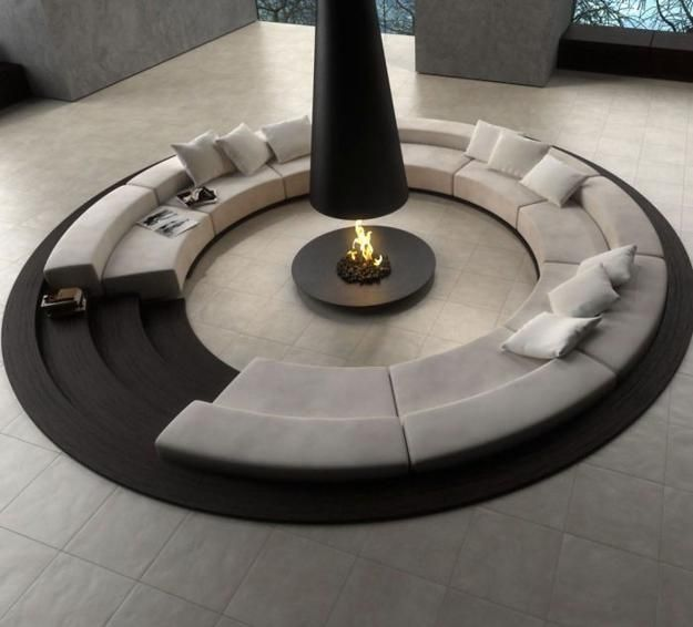 modern fireplace design and home decorating ideas
