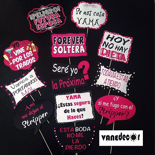 Props para despedida de soltera!!! #props#photobooth#bacheloretteparty#bachelorette#party#bride#wedd - vanedecor