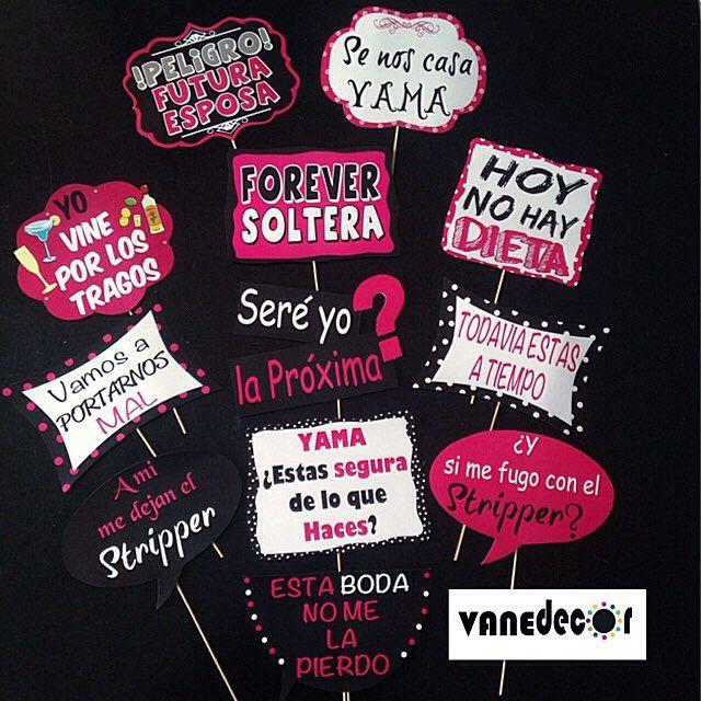 Props para despedida de soltera!!! #props#photobooth#bacheloretteparty#bachelorette#party#bride#wedd - vanedecor