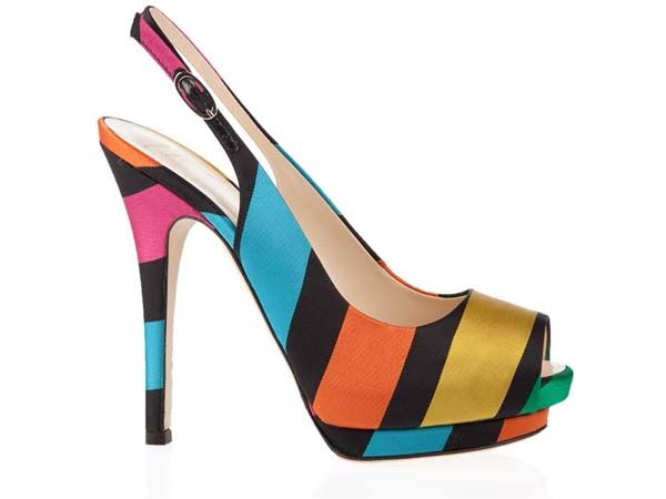 Giuseppe‑Zanotti‑Colour‑block via stylepantry #Peep_Toe #Giuseppe_Zanotti