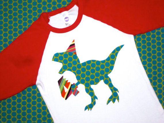 Dinosaur T-Rex Birthday Shirt Boys Birthday by wigglesandgiggles1