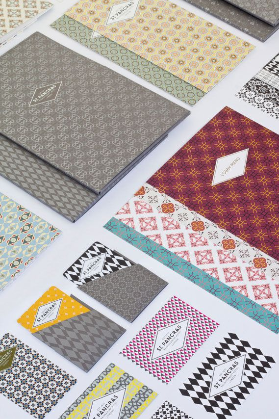 St Pancras Renaissance Hotel / branding work by North. via Tundra Blog. #identity #branding #print