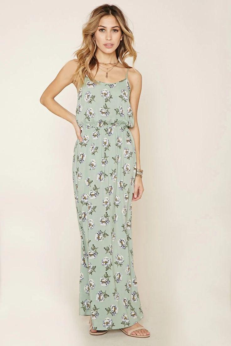 Floral Cami Maxi Dress #summerdaze