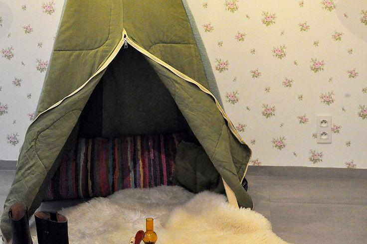 Een superleuk cadeau voor kinderen.Deze tipitent van slaapzakken staatgarant voor uren speelplezier!