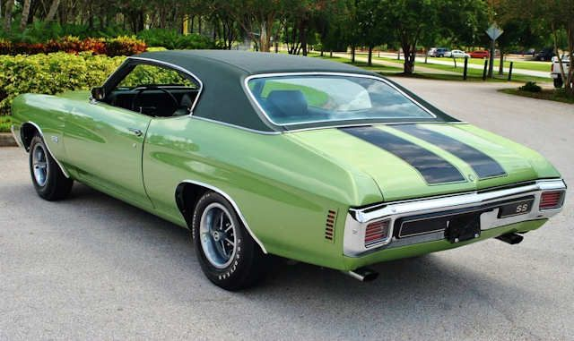 45 G Green Mist Black Vinyl Top Muscle Cars Camaro Classic Cars Muscle Chevrolet Chevelle