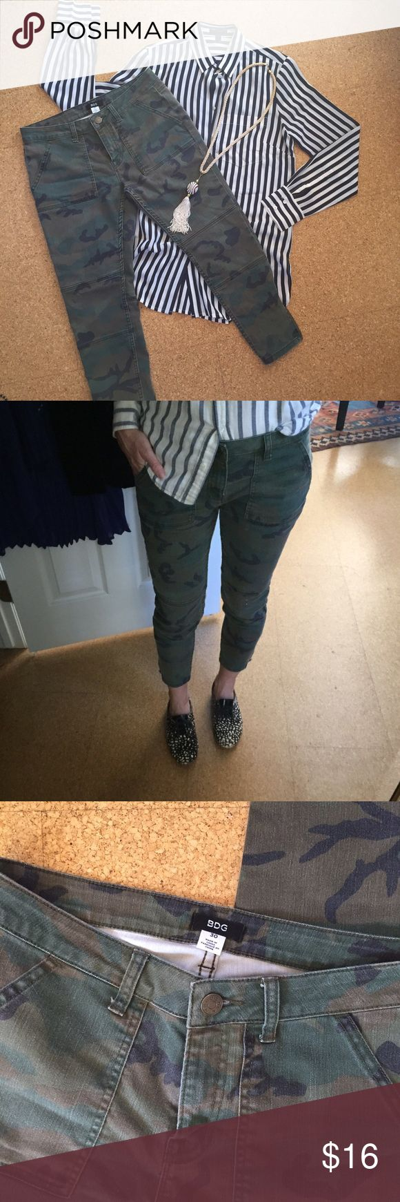 Camouflage Skinny Jeans Camo BDG brand Capri ankle skinnies. Too big for me :( but so cute. Gently preloved - worn a handful of times. Urban Outfitters Jeans Ankle & Cropped
