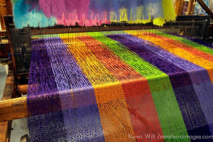 Wool on loom. Avoca Handweavers Mill, Avoca, County Wicklow, IRE; photo: Kymri Wilt