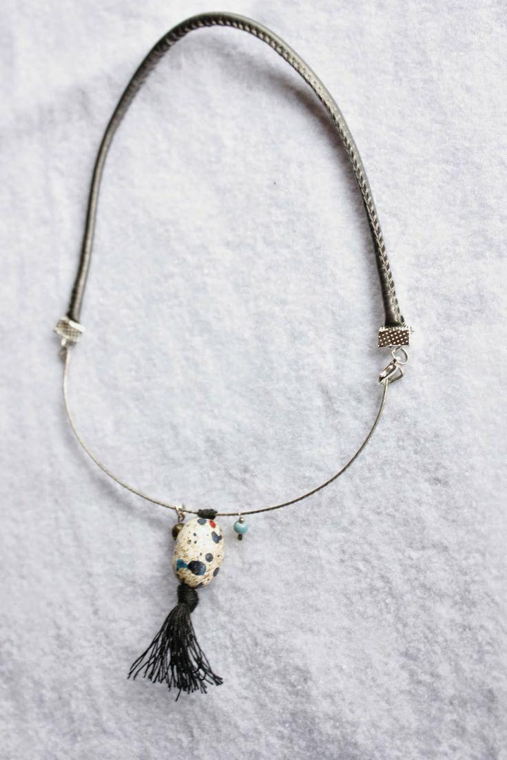 Χειροποίητα κοσμήματα, φυτικά καλλυντικα και σαπούνια, ιδέες, diy κατασκευές , διακόσμηση: Κολίε με χειροποίητη χάντρα