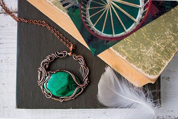 117 mejores imgenes de my wire wrapped jewelry en pinterest wire wrapping malachite pendant wire wrapped jewelry birthday wirewrap wireart wirecraft shopping aloadofball Choice Image