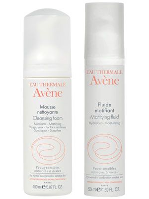 Eau Thermale Avène Cleansing Foam and Mattifying Fluid Review: Skin Care: allure.com