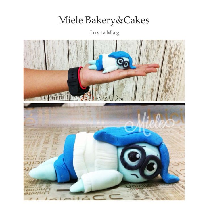Sadness topper for insideout cake