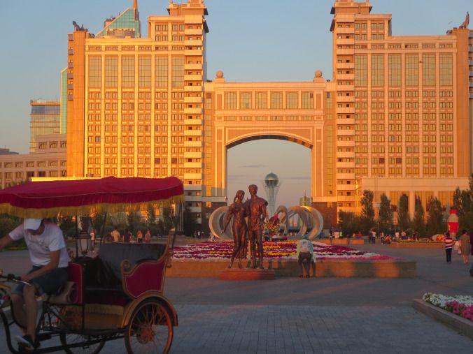 City center and Bayterek view - Astana