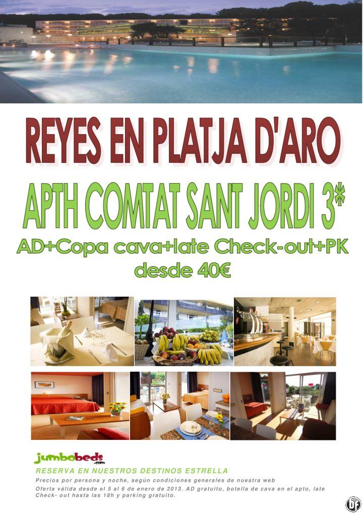 ¡¡¡Platja d'Aro oferta Reyes Apth Comtat Sant Jordi 3* dsd 40€ pax/día AD+Copa+Late Check-out+PK!!! - http://zocotours.com/platja-daro-oferta-reyes-apth-comtat-sant-jordi-3-dsd-40e-paxdia-adcopalate-check-outpk/