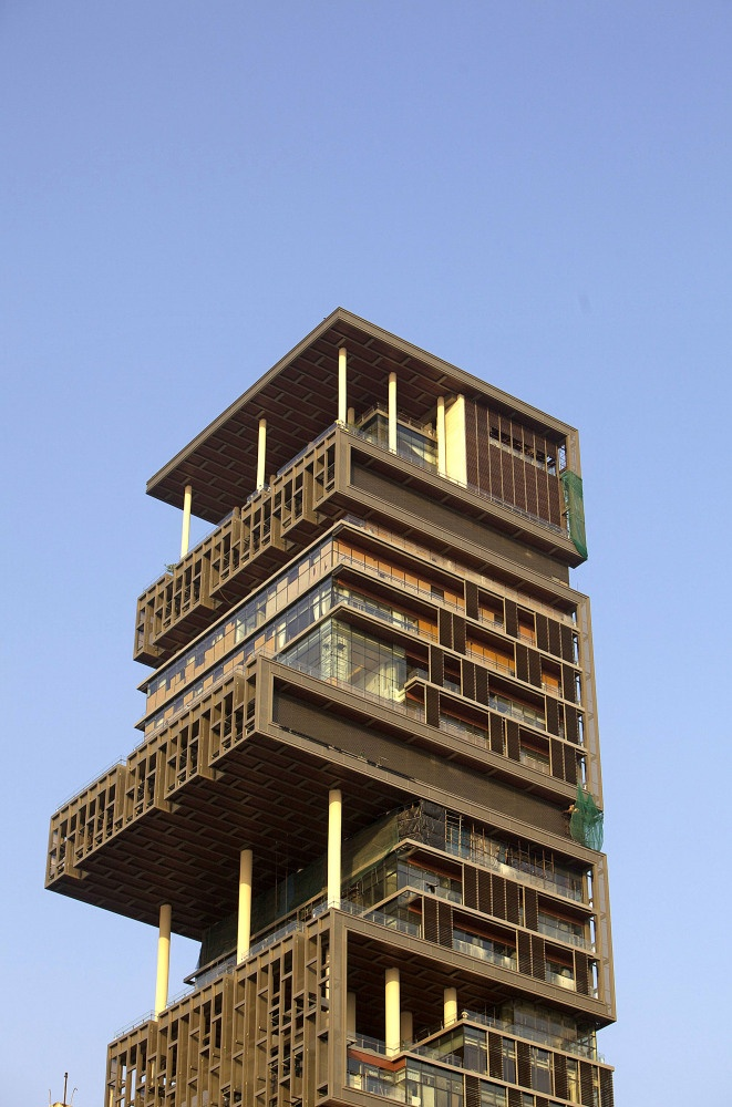 Antilla Located in Mumbai, India, this 27 floor home is