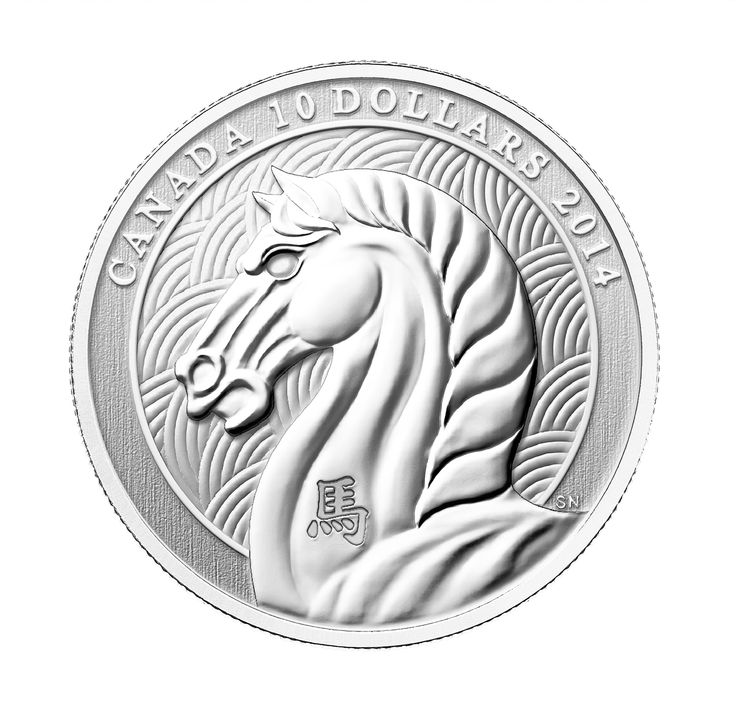 1/2 oz Fine Silver Coin - Year of the Horse (2014)