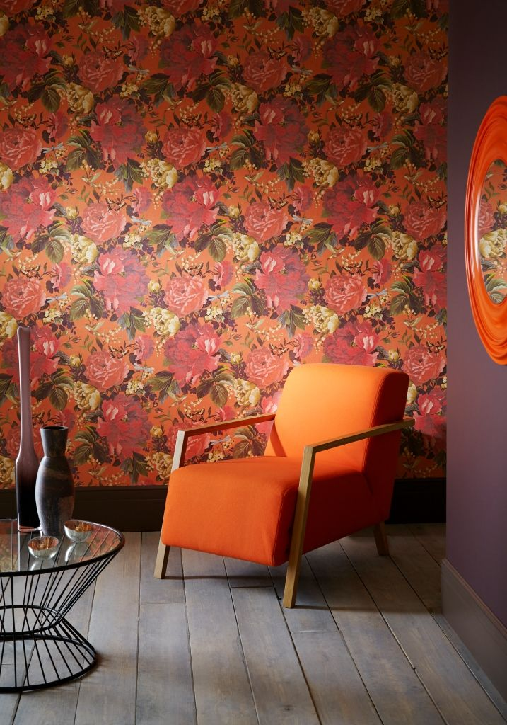 Dianthus wallpaper in Tiger Lilly from the 'Shade Wilder' collection by Arthouse. Available exclusively in New Zealand through Guthrie Bowron.