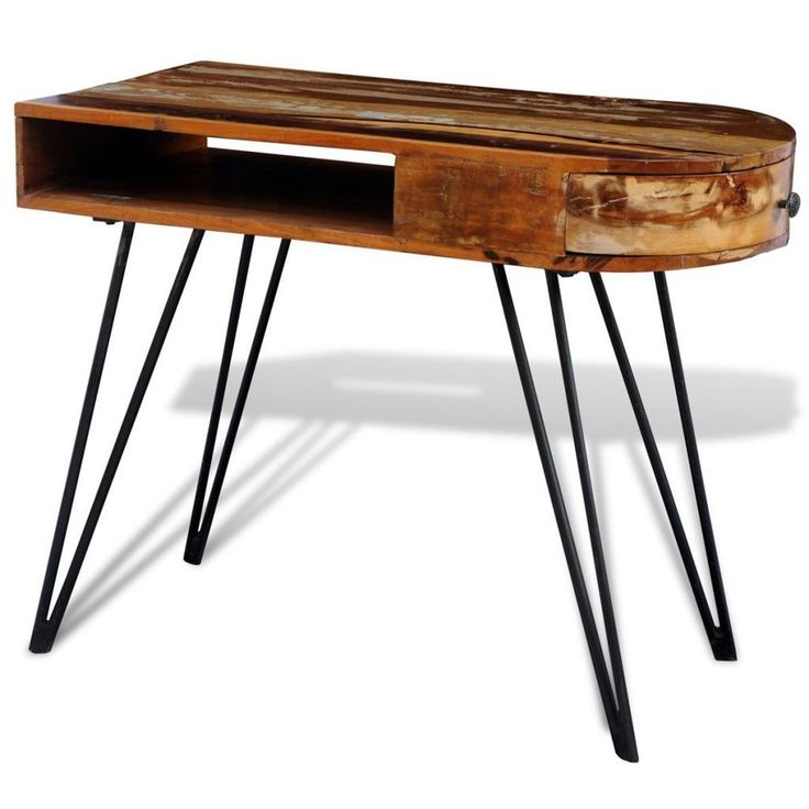 160 | This antique-style reclaimed desk, with a multi-color table top and 4 durable iron legs, is a timeless accessory for your home. Its reclaimed solid wooden top provides a stable and secure surface for placing your computers, iPads, books or ornaments on.