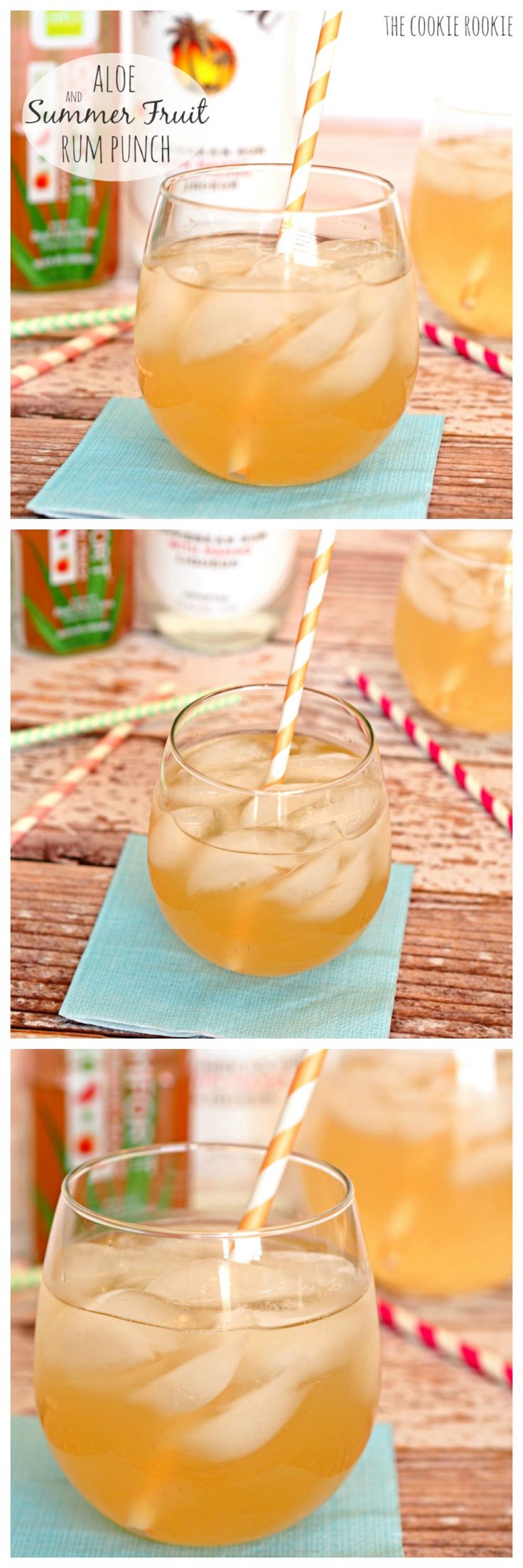 Aloe Infused Summer Fruit Rum Punch! Perfect for Summer #alodrink - The Cookie Rookie