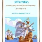 This Explorers Research Report Project aligns ELA CCSS with Social Studies. This project is easily implemented during Daily 5 when studying Explore...