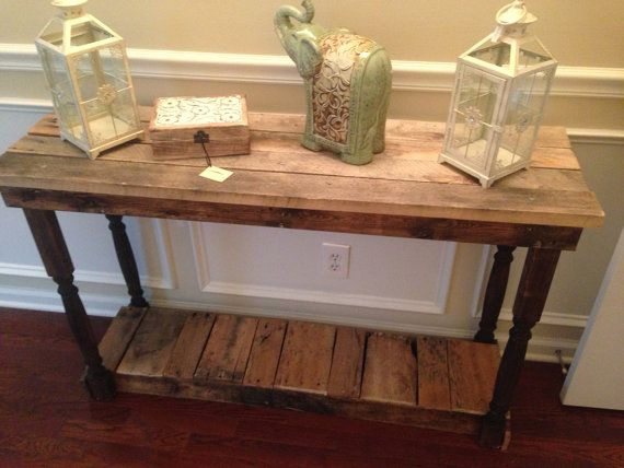 Rustic Foyer / Entry Table | reclaimed, repurposed, recycled pallet wood - 29 Best Foyers ~ Entry Ways Images On Pinterest