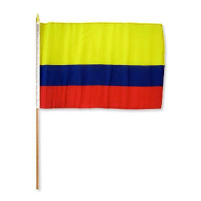 FlagsImporter Colombia Traditional Flag and Flagpole Set