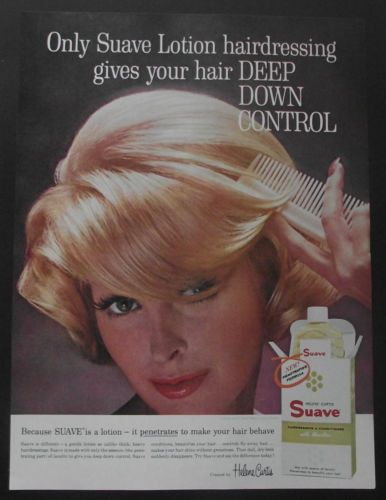 VINTAGE 1962 HAIRDRESSING ADVERT Helene Curtis Suave ...