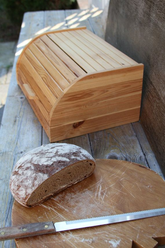 European Pine Wooden Bread Box