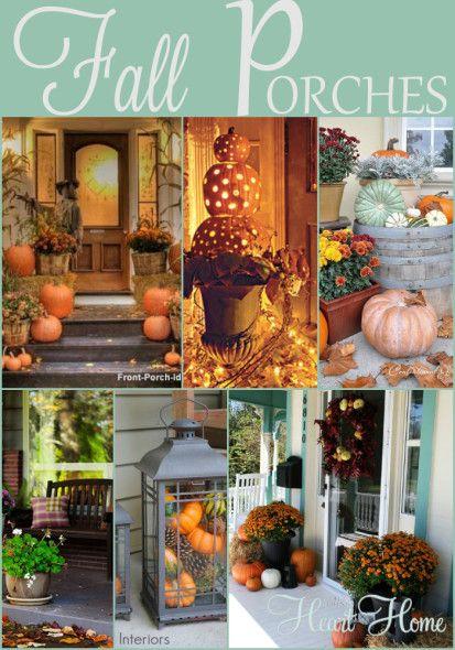 Fall Porches #falldecorating #decoratingwithpumpkins #outdoordecorating