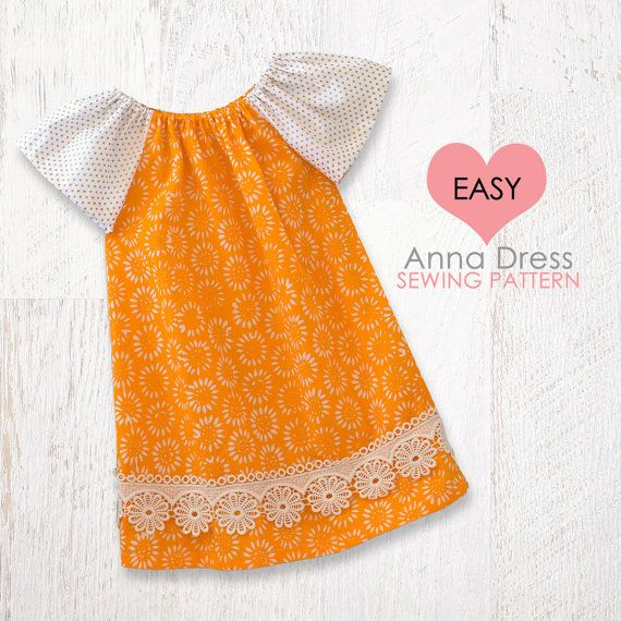 EASY baby dress pattern pdf, baby peasant dress pattern pdf, baby dress sewing p…