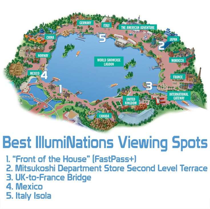 It can be hard to find a great viewing spot for Disney World's Epcot IllumiNations - especially if you don't plan ahead. Great suggestions in this article from DisneyTouristBlog.com