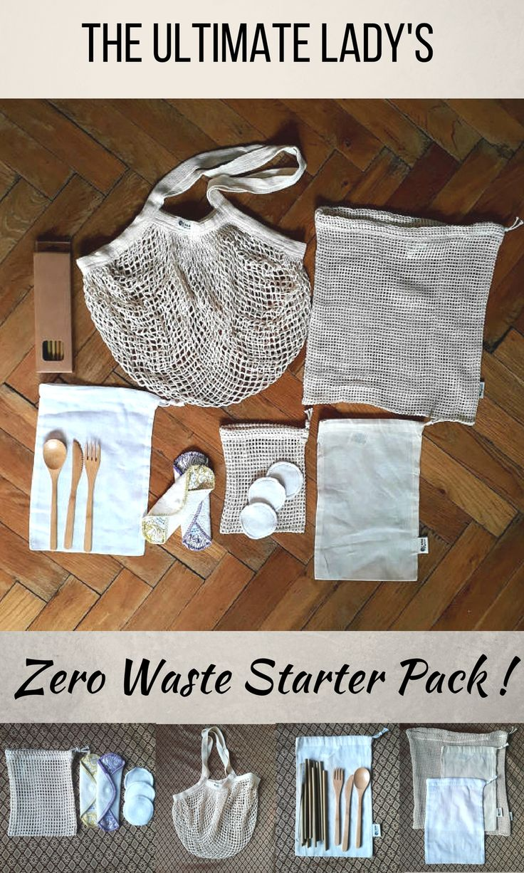 This ultimate zero waste starter pack (for ladies) will make your transition to an inspiring zero waste lifestyle possible! Perfect as a gift for your eco-conscious partner, friends and family. #zerowaste #zerowastekit #affilink