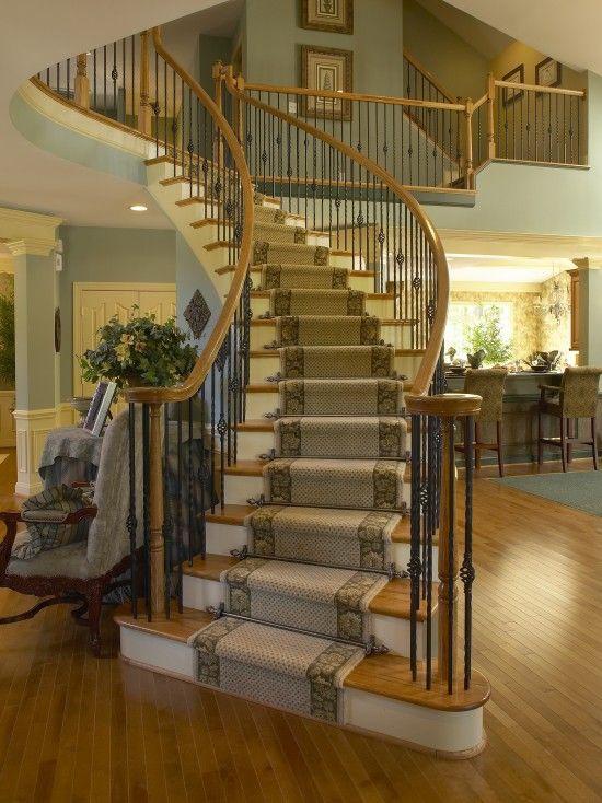Stair Runner Carpet Traditional